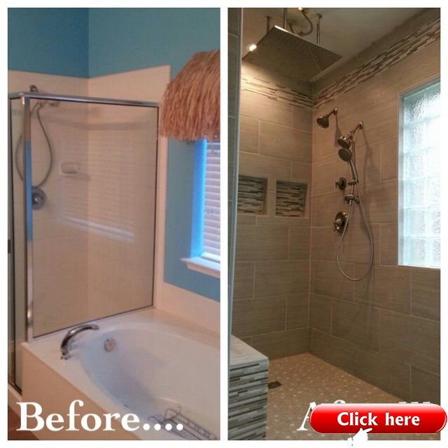 Bathroom Remodel Removed Garden Tub To, Garden Tub Shower
