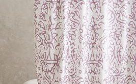 John Robshaw Lodhi Shower Curtain Lavender One Size Shower Curtains