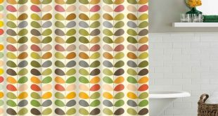 Seamless Retro 60s Midcentury Shower Curtain Bathroom Decor