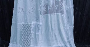Shabby Chic Shower Curtain White Cottage Chic Nordic Chic Bathroom Shower Ruffled Curtain Vintage Crochet Vintage Embroidery
