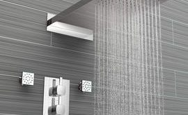 Square Concealed Thermostatic Mixer Shower Kit Premium Head & 4 Body Jets