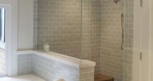 Add a walk-in shower that enhances a small bathroom's usefulness and beauty. Thi...