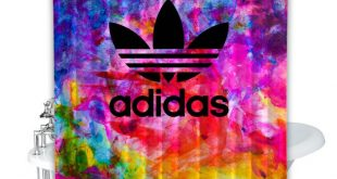 Adidas Colorful Custom Shower Curtain 100% Polyester