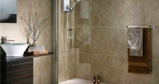 Bahtroom, Minimalist Walk In Shower With Frameless Glass Panel No Door Built In...