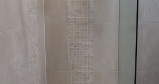 Baron Beige wall and floor tiles paired with the Beige anti slip mosaic creates ...