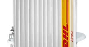 DHL Express Logo Shower Curtain 100% Polyester