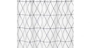FÖLJAREN Shower curtain - white black, gray
