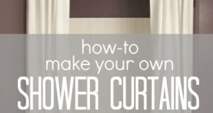 How-To Make Your Own Shower Curtains