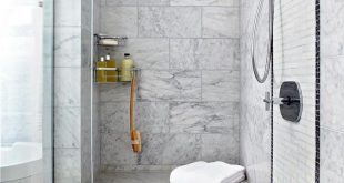 Just like in a lavish spa, a seat in the shower will encourage a slower pace, ma...
