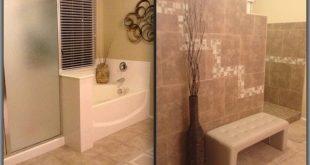 Large Walk-In Tile Showers | Bathroom remodel. Tiled walk in shower with no door...