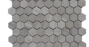 "Mulia Tile Natural Stone 1.25"" x 2"" Marble Mosaic Tile in Escarpment Light"