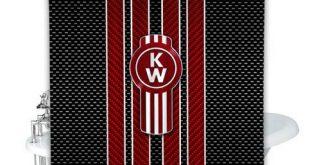 New Best Kenworth Emblem Shower Curtain 100% Polyester