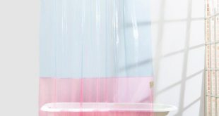 Non-toxic EVA | Pink & Blue Transparent Shower Curtain