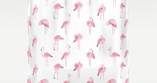 Pink Flamingo Shower Curtain, Girls Bathroom Decor, Boho Shower Curtain, Flamingo Print, Flamingo Decor Cute Shower Curtains Girls Apartment