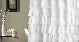 Shabby Chic Ruffled Shower Curtain