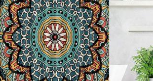 Us 1332 50 Off Lb Modern Bathroom Indian Mandala Boho Shower Curtain With 12 Hooks Paisley Medallion Ethnic Hippie Bath Curtains Home Decor In