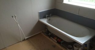 Walls Reboarded, Bath Tanked And Floor Boarded With Bathroom Installation In Lee...