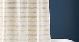White Shower Curtains by Anthropologie, Tasseled Arden Curtain